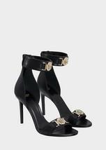 Awesome VERSACE Black w/Gold Medusa Ankle Strap Shoes Sandals Sz 40IT/9.5US $995 - $643.49