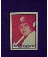 1971 Milk Duds Baseball #5c Thurman Munson [] New York Yankees (Repro) - $3.75
