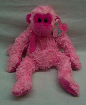 "TY Pinkys JULEP THE BRIGHT PINK MONKEY 8"" Plush STUFFED ANIMAL Toy w/ TAG - $19.80"