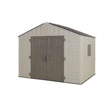Storage Shed Outdoor with Floor Plastic Stronghold Resin Heavy Duty Port... - $889.70