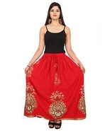 Indian Colorful Traditional Belly Dance Party Ankle Length Skirt Elastic... - $17.87