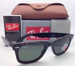 Polarisiert Ray-Ban Sonnenbrille RB 2140 902/58 50 Wayfarer Schildkröte W / Grün
