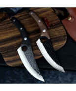 2Pc Best Knife Set Handmade Serbian Boning Damascus Type Butcher for Kitchen Bar - $32.91