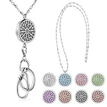 SAM & LORI Strong Lanyard Necklace Stainless Steel Beaded Chain Necklace Silver