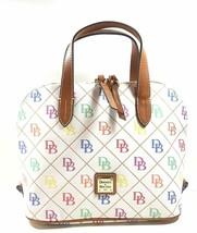 Dooney & Bourke Women's Quilted Signature Zip Zip Satchel, White Multi, ... - $245.52