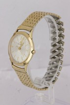 Vintage Jaeger LeCoultre 10K Yellow Gold Filled Dress Silver Lugs Watch 34mm image 2