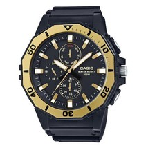 Casio Men's Large Face Diver Style Watch, Black/Gold - $39.00