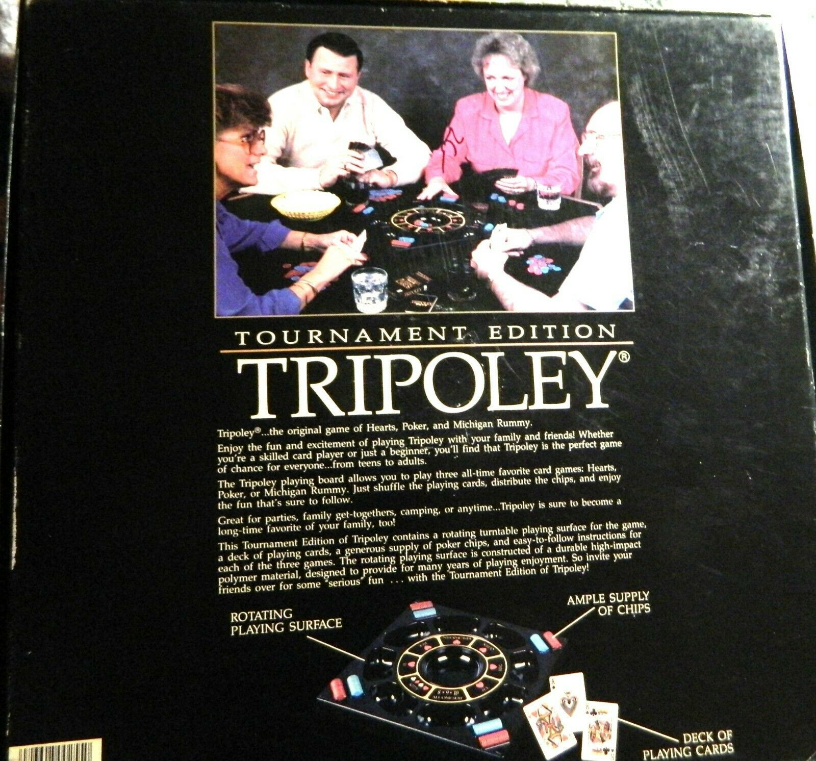 Tripoley Tournament Edition by Cadaco Board Game 1989 Turntable image 2
