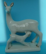 VTG Collectibes USSR Porcelain ZHK Polonnoe Polonne Roe Deer baby Figuri... - $20.00