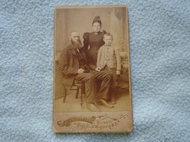 Victorian Portrait Photo Card Mc Knaught Peebles High Street - $9.65