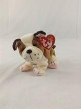 2003 Ty Beanie Baby Huggins The Bulldog Stuffed Plush Animal Toy - $5.89