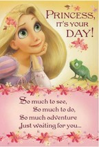 "Tangled Greeting Card Birthday Disney""Princess, It's Your Day!""  - $5.00"
