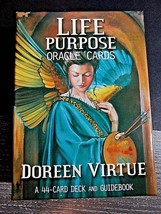 LIFE PURPOSE ORACLE CARDS DOREEN VIRTUE 44 CARDS AND BOOK COMPLETE - $23.00