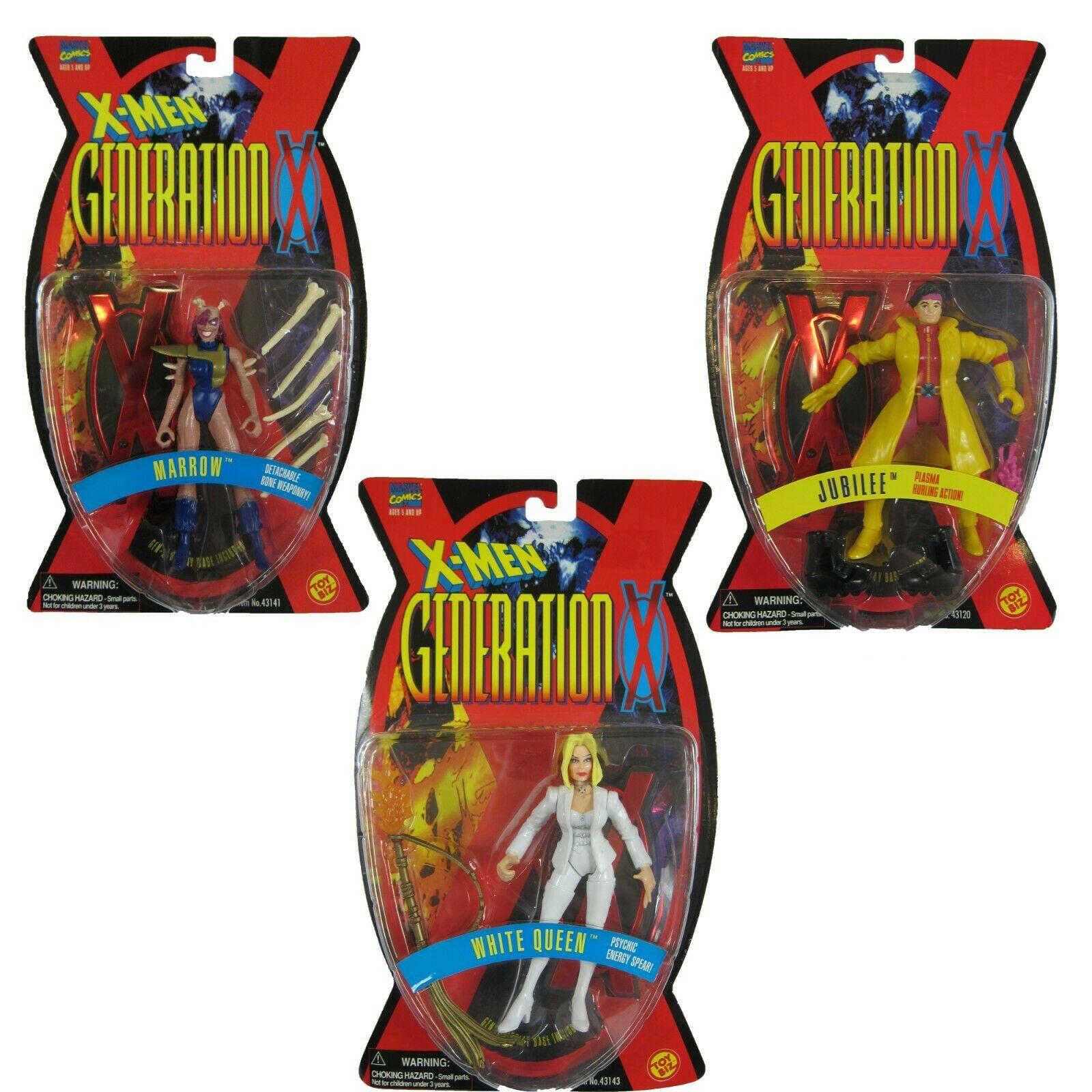 Lot 3 X-Men Generation X Jubilee, White Queen, & Marrow Action Figures Toy Biz - $29.99