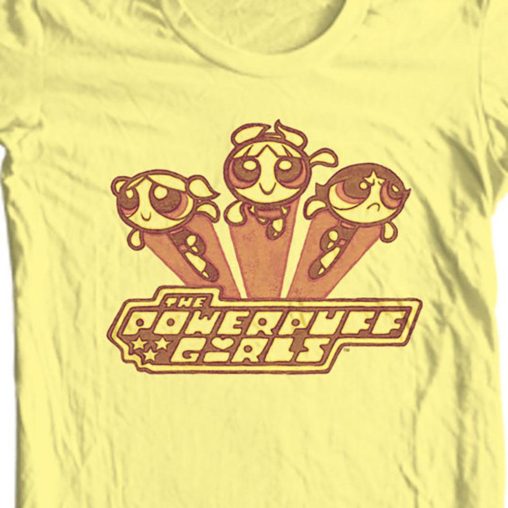 Powerpuff girls retro cartoon network bubbles cotton tee for sale graphic tshirt
