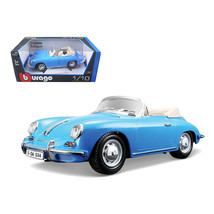1961 Porsche 356B Convertible Blue 1/18 Diecast Car Model by Bburago 120... - $78.35