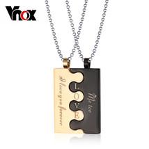 Vnox Fashion Lock Couple Necklace & Pendants Men / Women Stainless Steel... - $14.56