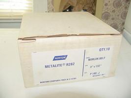 """10 - Norton Metalite R282 Norlok Sanding Belt 3"""" x 132"""" Grit P180-J Coat... - $57.50"""
