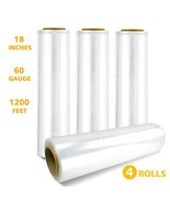 """Strength Stretch Wrap Film 18""""x1 200 Feet 60 Gauge 20 Microns for Pallet... - $58.50"""