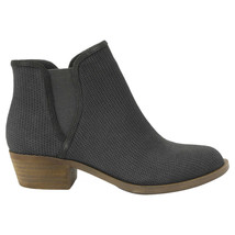 New Kensie Women's Dark Grey Patterned Suede Gerona Short Ankle Boots Booties image 2