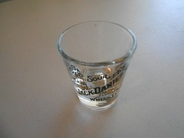 Jack Daniels Tennessee Whiskey Old Sour Mash Regular Clear Shot Glass  - $2.97