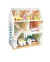 PANDA SUPERSTORE Girl's House Three-Dimensional House of Manual Assembly Paper M