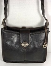 Brighton Vintage Black with Brown Trim Shoulder Bag-Distressed - $41.70