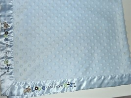 "Just One Year Love you from A-Z Blue Minky Dot /Satin Baby Blanket 30"" x 40"" - $15.83"