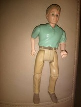 Fisher Price Loving Family Dollhouse Man Dad Father Green Shirt Tan Pants 1998 - $7.84