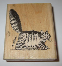Mad Cat Kliban Rubber Stamp Rare Walking Tail Up Angry Kitten Kitty Hard... - $49.49