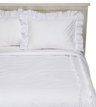 Simply Shabby Chic Heirloom White Ruffle 2 Pc Twin Comforter Set New - £40.87 GBP