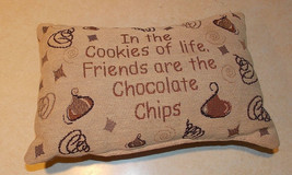 Brown Beige Chocolate Decorative Pillow  12 x 8 - $24.95