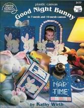 Good Night Bunny in Plastic Canvas ASN 3177 Baby Set using 7 & 10 Mesh C... - $4.99