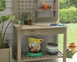Better Homes & Gardens Camrose Farmhouse Outdoor Gray Color Potting Bench