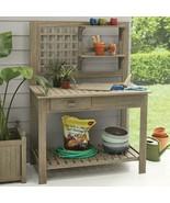 Better Homes & Gardens Camrose Farmhouse Outdoor Gray Color Potting Bench - $358.48