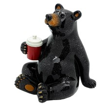 Pacific Giftware Animal World Black Bear with Cooler Drink Resin Figurine - $19.00