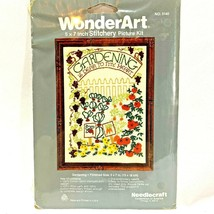 Wonder Art Stitchery Kit Gardening 5140 Wall Hanging Embroidery Garden V... - $11.64