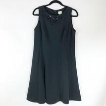 Chico's Embellished Sleeveless Black Dress - Size 8 - NWT $149 - $67.89