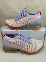 Nike Air Vapormax Flyknit 3 Hydrogen Blue Orange AJ6910-400 Women's Size 8 - $178.15