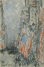The Museum Outlet - Flag Day, Fifth Avenue, July 4th 1916, 1916, Stretch... - £70.53 GBP