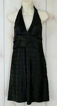 Twenty One sz S Womens LBD Dress Black V Neck Halter Top Layered Ruffles... - $29.69