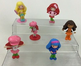 Strawberry Shortcake Lot 6pc McDonalds Doll Figures Toppers Toys Hasbro - $11.83