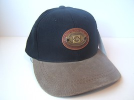 Alberta Treasury Branches Metal Badge Hat Black Strapback Baseball Cap w... - $18.88