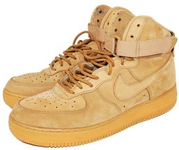 sneakers for cheap 64330 38573 NIKE AIR FORCE 1 HIGH TOP WHEAT TAN 882096-200 - MENS SHOE SIZE 11