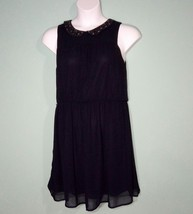 Ann Taylor Loft Women Dress Navy Beaded  Collar Size 10 - $16.82