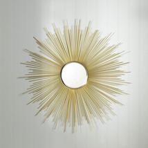 Stunning Golden Rays Decorative Beveled Mirror Inset Wall Decor - $64.95