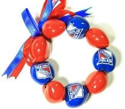 NEW YORK RANGERS BRACELET BEADS NHL TEAM LICENSED NEW - $6.95