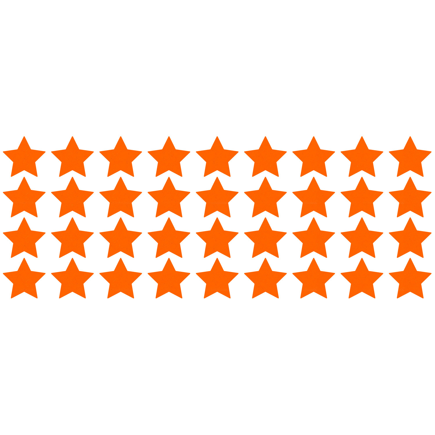 Primary image for LiteMark Reflective Orange 1 Inch Stars Decals - Pack of 36