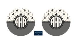 ANCHOR BOAT NAUTICAL MONOGRAM NAME CUSTOM SANDSTONE CAR COASTERS ABSORBS... - $16.78