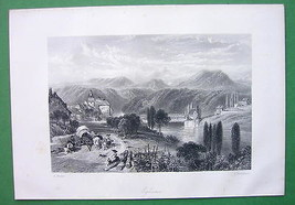 SWITZERLAND Eglisau on Rhine River - Antique Print by Birket Foster - $13.05